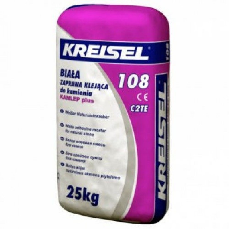 Клей для плитки Крайзель 108 (Kreisel 108) белый NATURSTEIN-KLEBER 25 кг