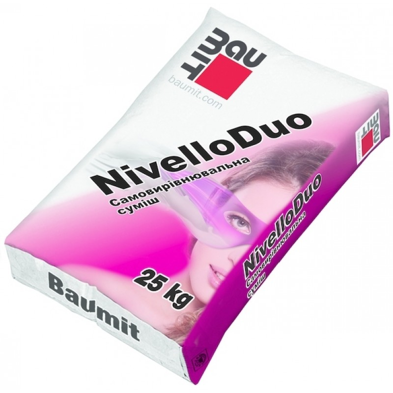 Самовыравнивающаяся смесь наливная BAUMIT Nivello Duo толщина слоя 3-10 мм(БАУМИТ НИВЕЛЛО ДУО) 25 кг