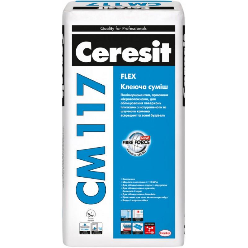Клей для плитки Церезит CM 117 Flex (теплий пол) Сeresit CM-117 (25кг)