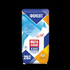 Клей для плитки большого формата суперэластичный Ферозит МЕГАФЛЕКС ,25кг