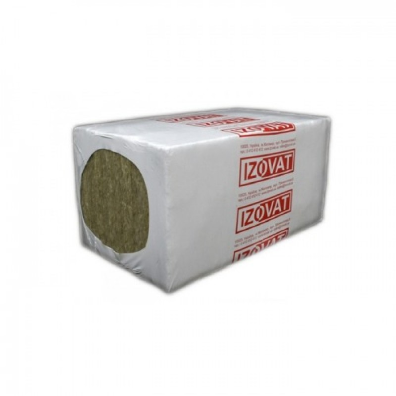 Минвата Izovat 30 плотности (1000х 600х 50) на синтетическом связующем, уп.6м2