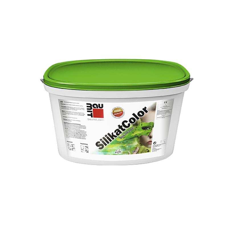 Краска BAUMIT Silikat Color (СИЛИКАТКОЛОР) силикатная фасадная (14 л)