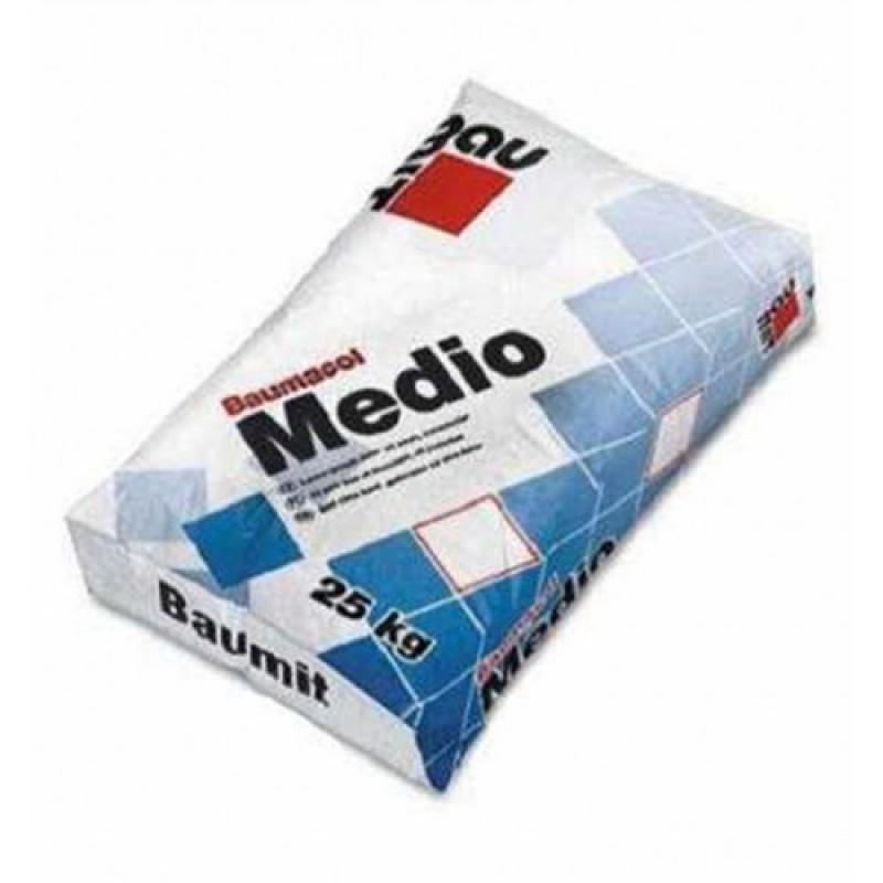 Клей для плитки Баумит (Baumit) Медио, 25кг (толстослойный)