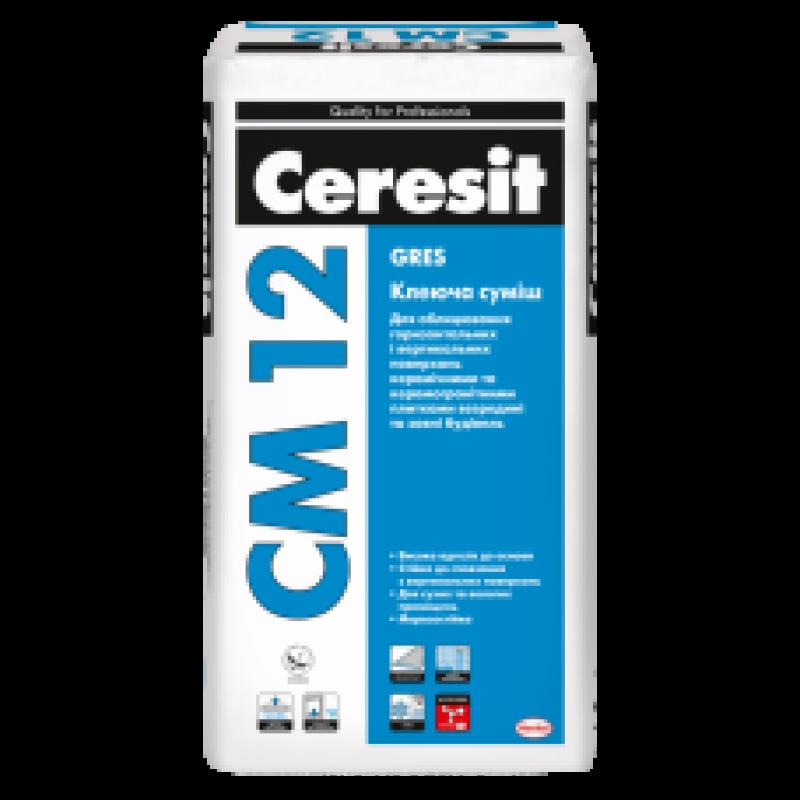 CERESIT CM-12 Клей для керамогранита (Церезит СМ -12),25 кг