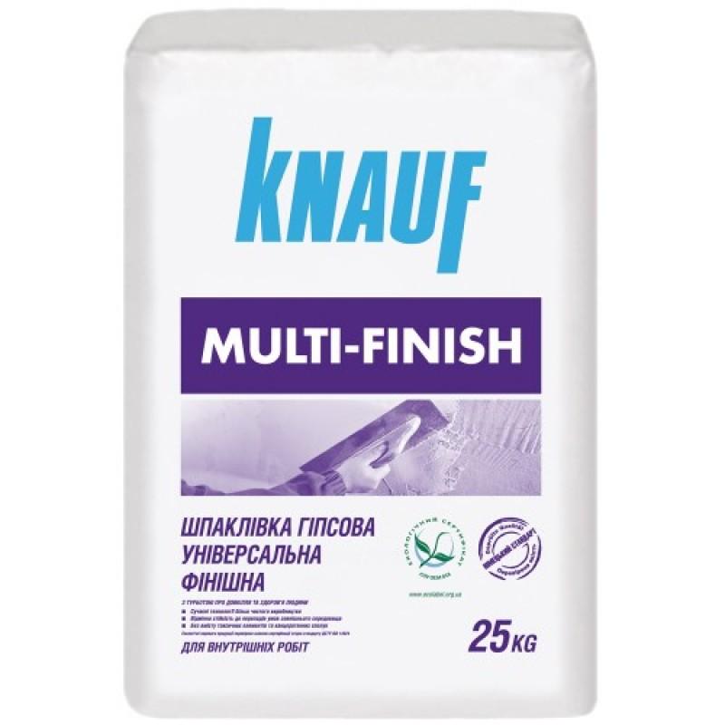 Шпаклевка гипсовая Кнауф (KNAUF) Мультифиниш, 25 кг