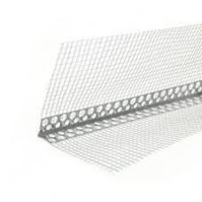 Уголок алюминиевый перфорированный с сеткой 2,5 м