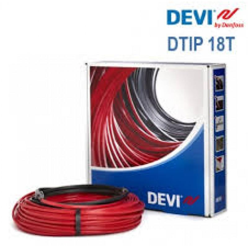 Двужильный экранированный нагревательный кабель в стяжку DEVI DTIP-18(34м2)(Польша)