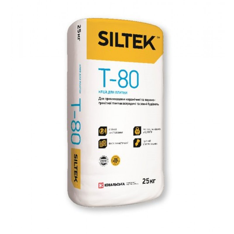 Клей для плитки Силтек Т 80 (SILTEK Т-80) 25 кг