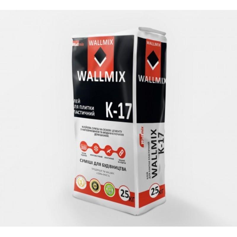 Клей для плитки эластичный Wallmix K17 (25кг)