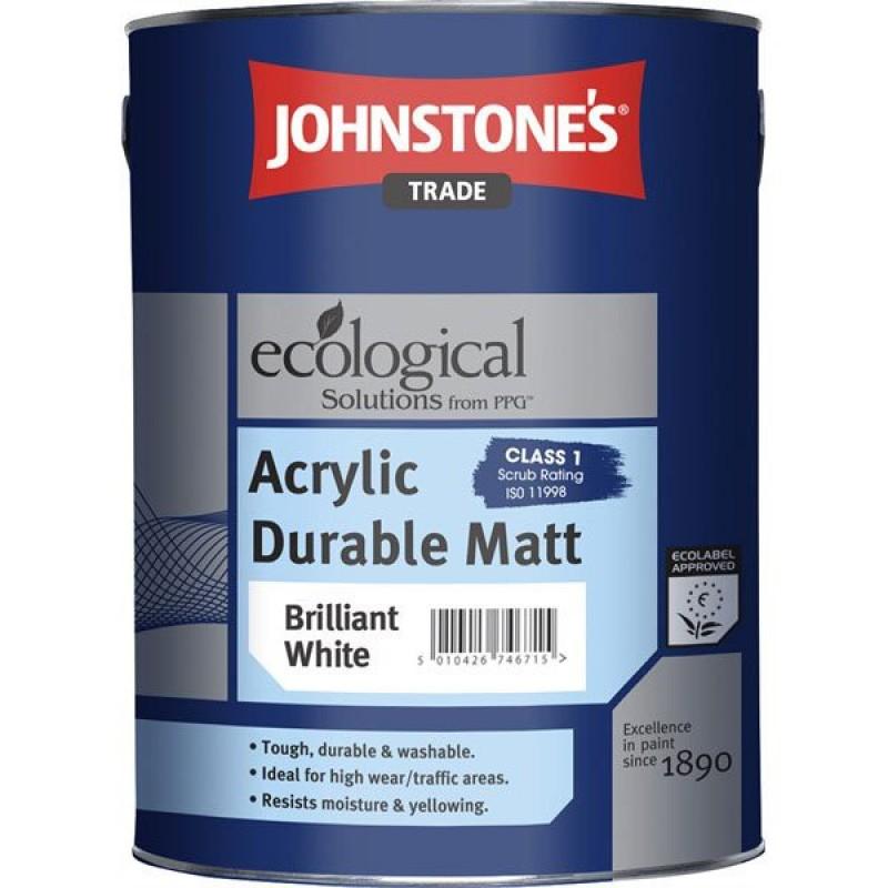 Краска матовая износостойкая JOHNSTONE'S (ДЖОНСТОУН) Acrylic Durable Matt (5л)