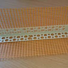 Уголок ПВХ перфорированный с сеткой 3м (10*10)