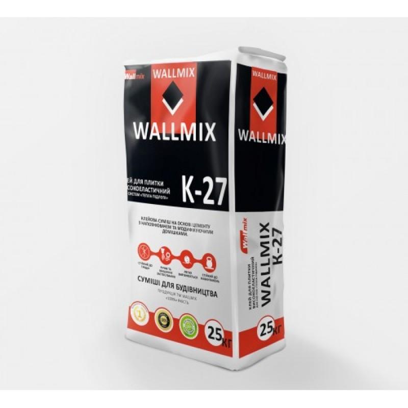 Клей для плитки высокоэластичный Wallmix K27 (25кг)