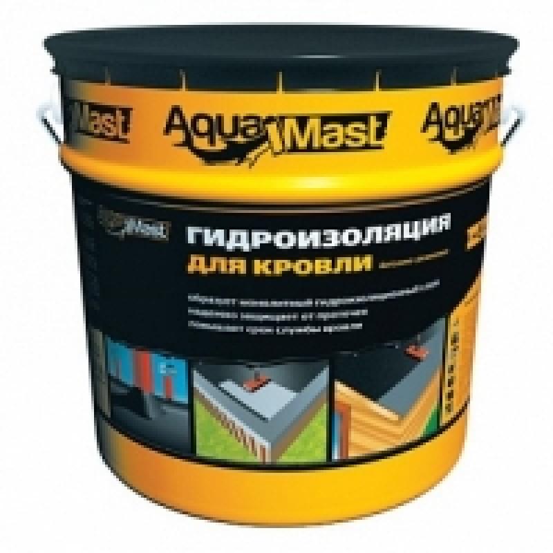 Мастика битумно-резиновая AquaMast кровельная (18кг)