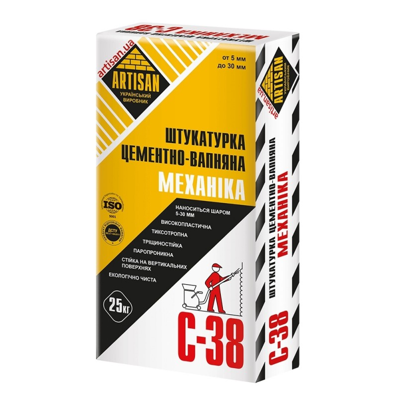 АРТІСАН С-38/25кг Штукатурка цементно-вапняна Механика
