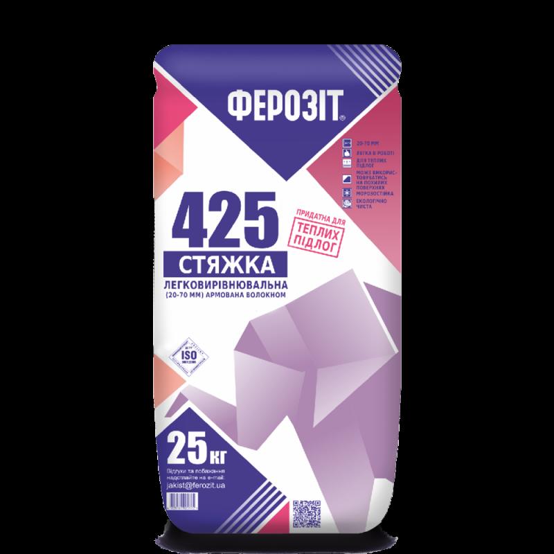 Стяжка легковыравниваемая Ферозит 425 (25кг)