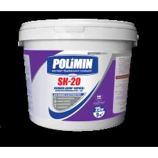 "POLIMIN Sk-20 Штукатурка силиконовая ""короед"" 2 мм (25 кг)"