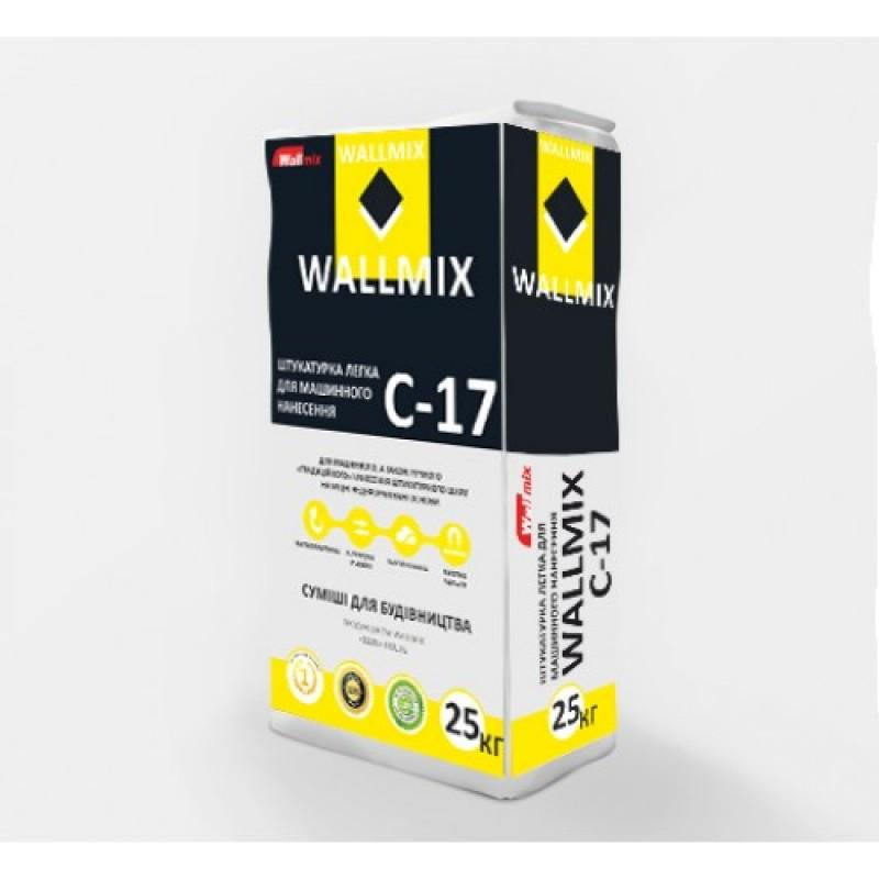 Штукатурка цементно-известковая лёгкая ВОЛМИКС (Wallmix) C17 (машинного нанесения) (25кг)