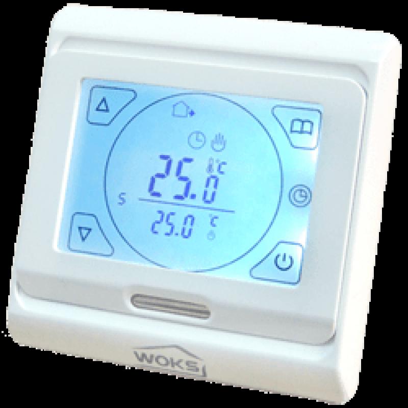 Программируемый терморегулятор для теплого пола Woks M 9.716