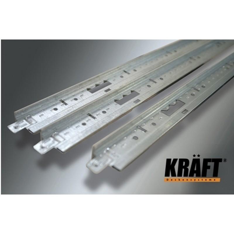 Профиль KRAFT Fortis Т-15 (0,6) 25*15мм RAL9003<br />
