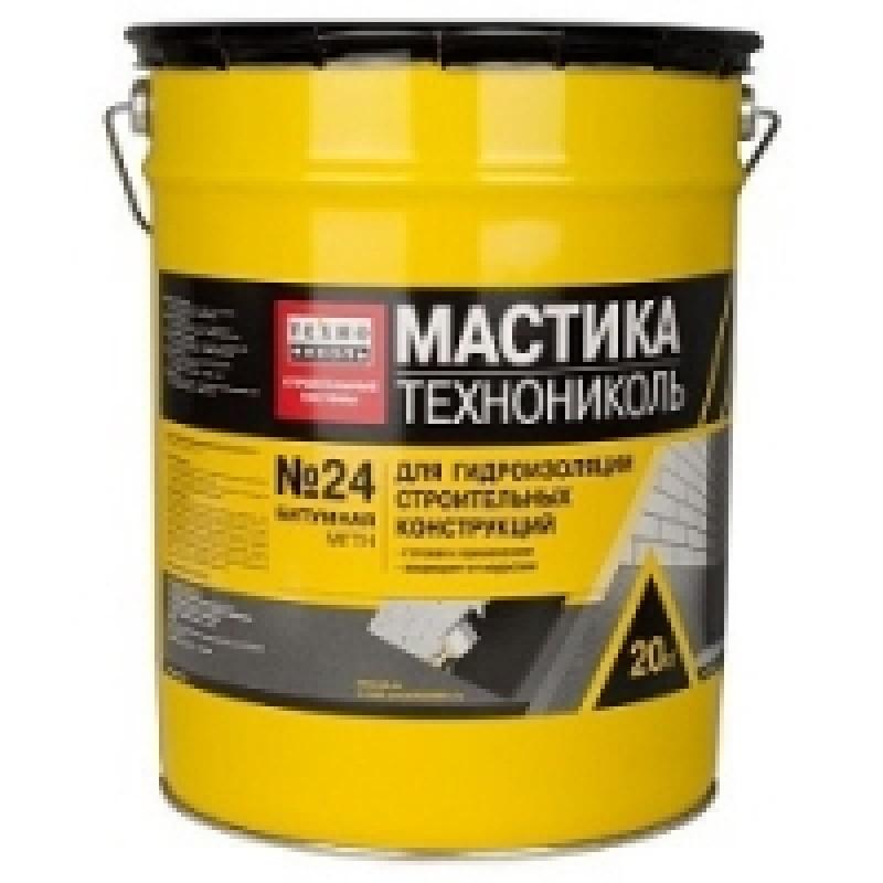 Мастика МГТН № 24 гидроизоляционная ТехноНиколь (20кг)
