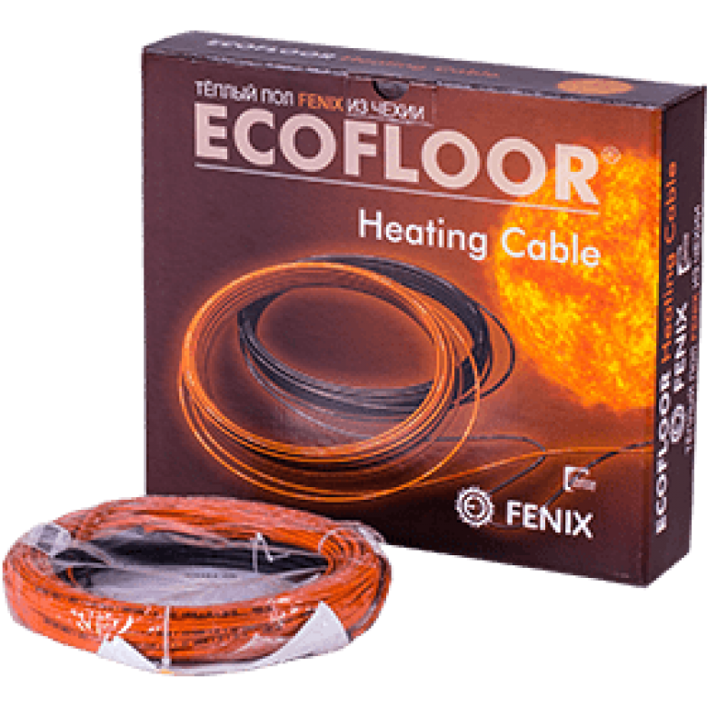 Тонкий нагревательный кабель под плитку FENIX ADSV-10(0,9-0,7м2)(Чехия)
