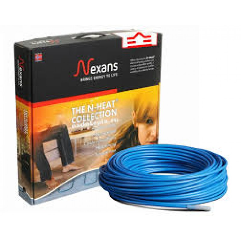 Двужильный экранированный нагревательный кабель в стяжку NEXANS TXLP/2R-1250(9,1-7,2м2)(Норвегия)
