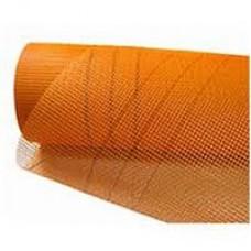 Сетка штукатурная щелочестойкая ячейка 5*5мм плотность160гр/м.кв.(1х50м) оранжевая