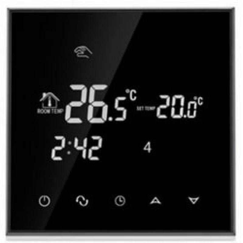 Программируемый терморегулятор для теплого пола Profi Therm WiFi Onyx Black