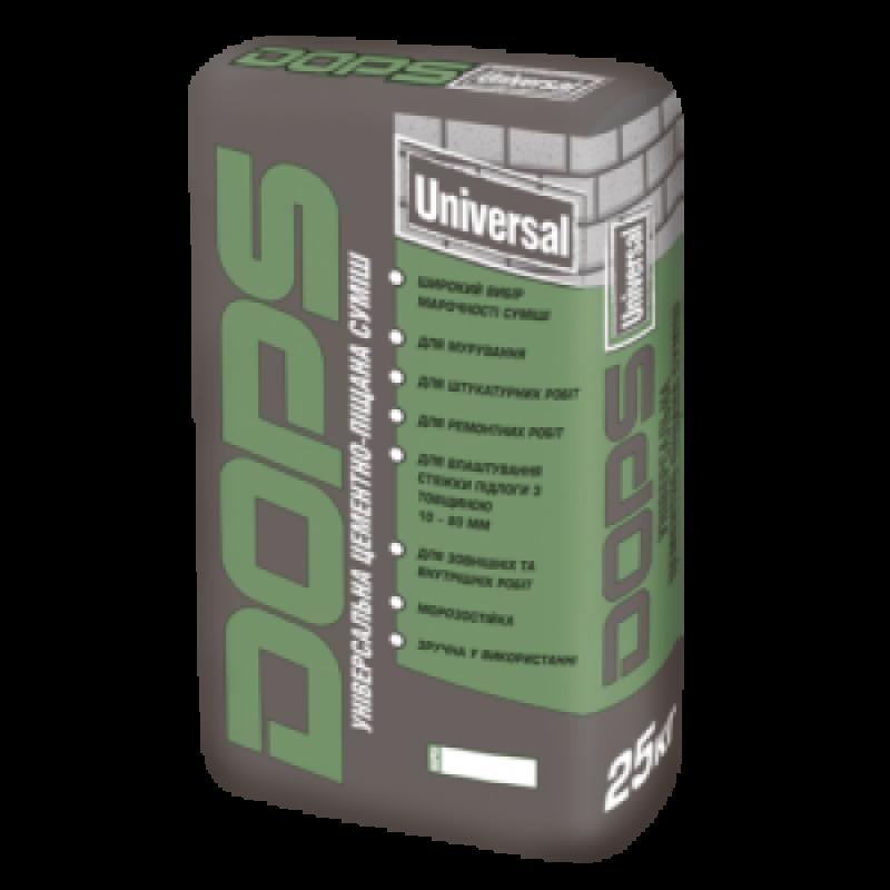 DOPS Universal 100 Універсальна цементно-піщана суміш (25кг)