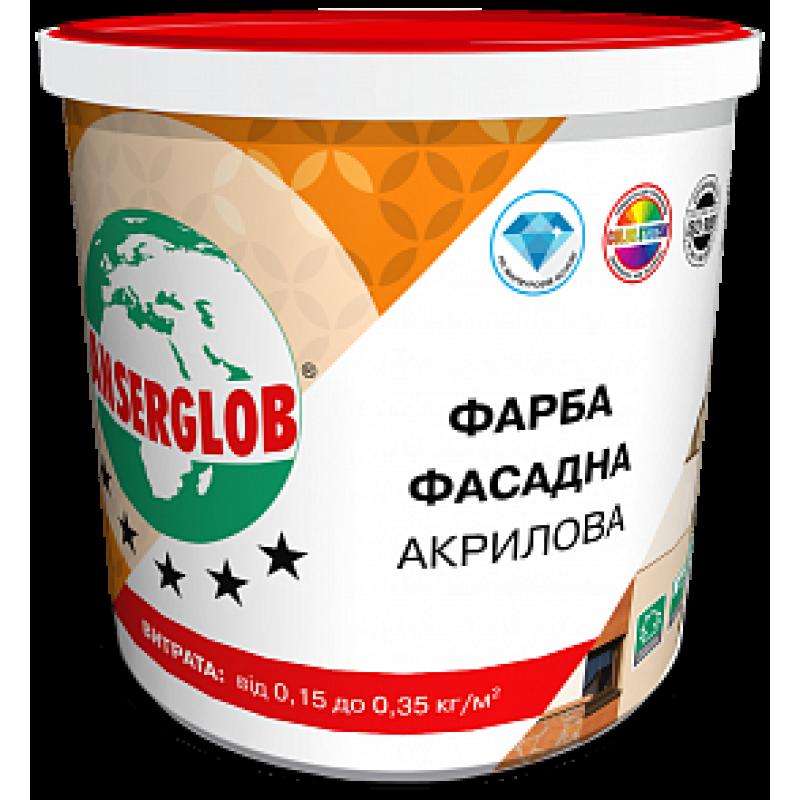 ANSERGLOB Акриловая фасадная краска, 14 кг