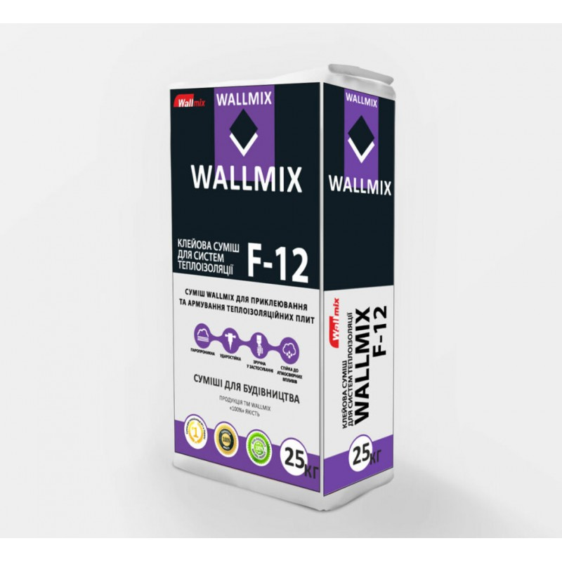 Wallmix Клеевая смесь для систем теплоизоляции F-12 (25кг)