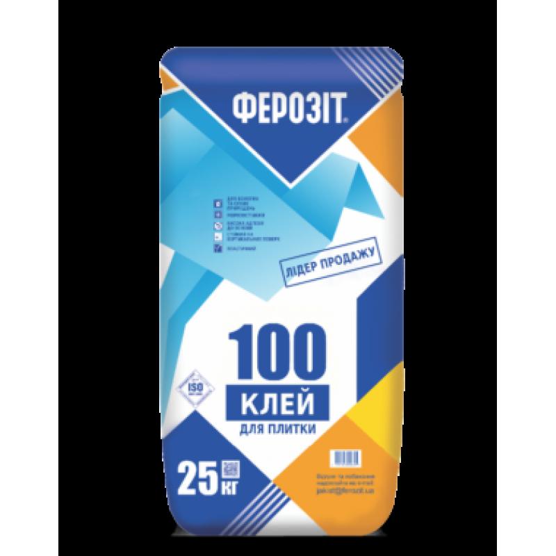 Клей для плитки Ферозит 100 (Ferozit) (25кг)