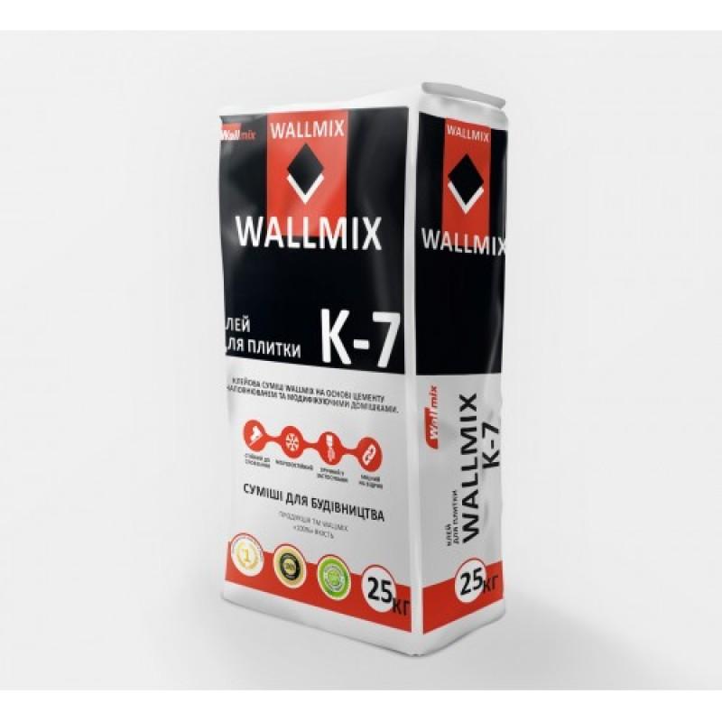 Клей для плитки для внутренних и наружных работ с с повышенной адгезией Wallmix K7 (25кг)
