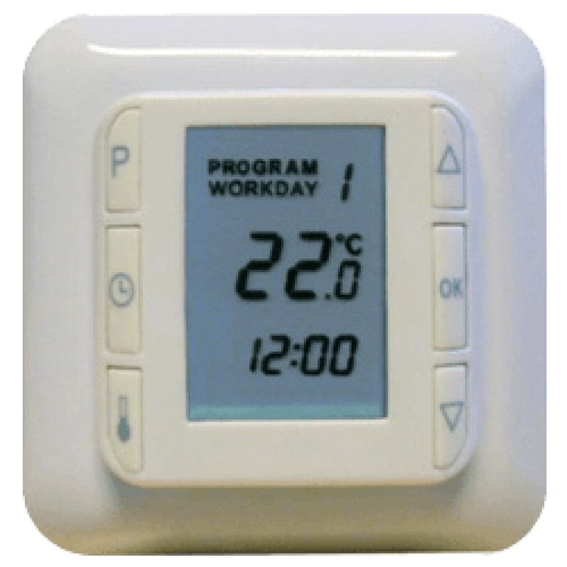 Программируемый терморегулятор для теплого пола NTC 100 (Дания)