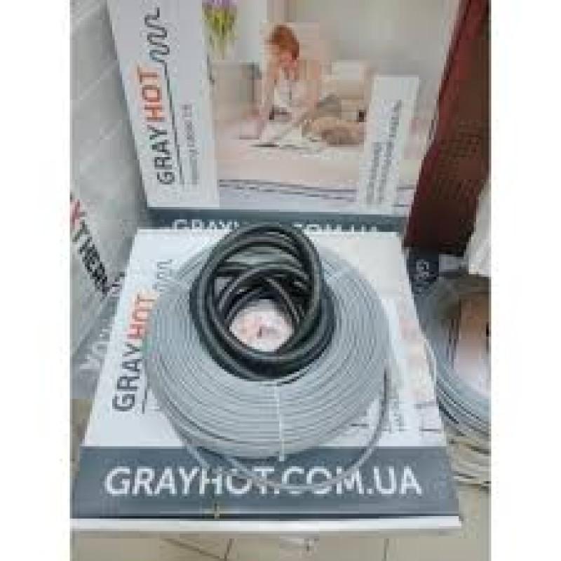 Двужильный нагревательный кабель в стяжку GRAYHOT(6,4-5,1-3,8м2)(Украина).