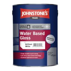 Краска с глянцевым эффектом водорастворимая для дерева и металла JOHNSTONES Water Based Gloss (2,5л)