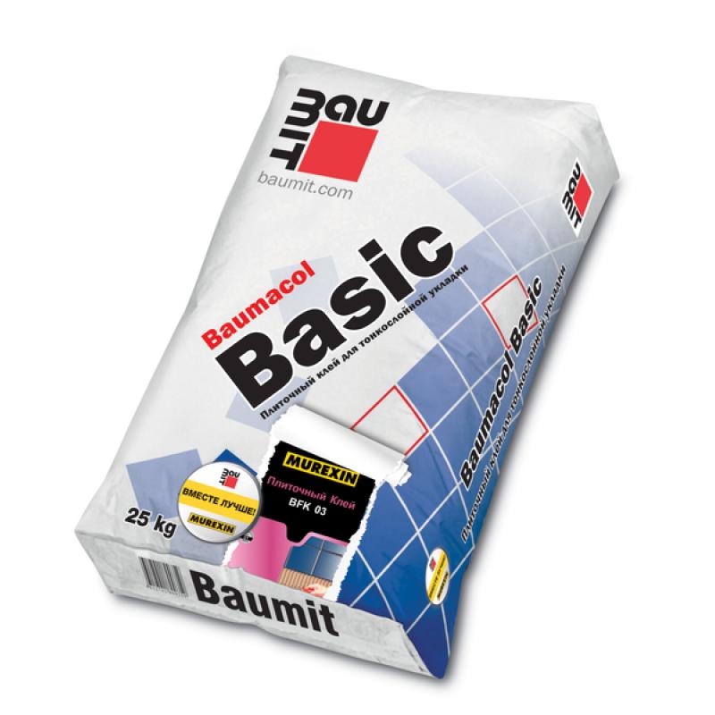 Baumit Basic клей для плитки Баумит Баумакол Бейсик, 25 кг